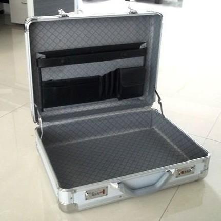 Silver Aluminum Instrument suitcase