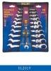 11pcs Flexible Ratchet Combination Wrench Set