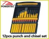12pcs punch and chisel set