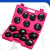 15PCS CUP TYPE OIL FILTER WRENCH SET