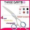 2011 PATENT changeable thumb ring Japanese damascus stainless steel barber hair cutting scissors