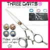 "2011 Professional Double Swivel Thumb Design Hair Cutting Scissors 5.5"" (Titanium Coated Available)"