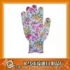 2011 new design nylon dotted glove with printing