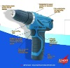 2011 new power tools-Two-speed 12V Lithium-ion battery cordless driver drill/direct current