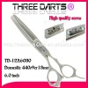 2012 hairdressing scissors ( high quality screw ,special handle)