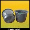20L black plastic construction buckets