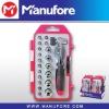22-pcs ratcheting multi function screwdriver hand tool set