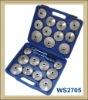23pcs aluminium cap type oil filter wrench