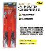 2pc insulated screwdriver set