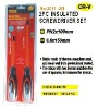 2pc insulated screwdriver set