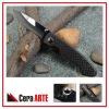 "3.75"" ceramic folding knife (mirror polished blade with Kevlar Carbon Fiber/stainless steel liner handle)"