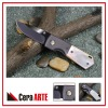 "3"" ceramic folding knife (mirror polished blade with Titanium Coated Steel Bolster handle)"