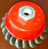 """3"""" twist knotted wire cup brush"""
