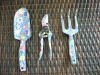 3pcs garden tool set with transfer printing