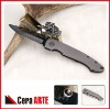 "4.25"" ceramic pocket knife (mirror polished blade with Titanium handle)"