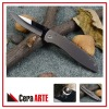"4.5"" ceramic pocket knife (mirror polished ceramic blade with Titanium handle)"