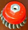 """4"""" twist knotted wire cup brush"""