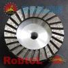 5'' 125mm 4.5'' 115mm premium Turbo Rim Diamond Grinding Cup Wheel For Concrete with Aluminium Body--COBF