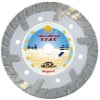 5'' dia125mm Small deep teeth turbo diamond Saw balde for fast cutting hard and dense material