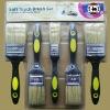 5pcs pure white bristle plastic handle paint brush set