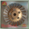 7'' Straight Turbo Diamond Grinding Cup Wheel with M-14 Adapter for long life grinding general material --GEAZ