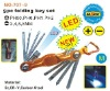 9pc folding torx hex key set with led light