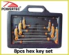 9pcs hex key set