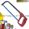 ADJUSTABLE HACKSAW FRAME WITH ALUMINUM ALLOY HANDLE AND ELLIPTIC TUBE