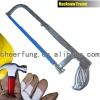 ADJUSTABLE HACKSAW FRAME WITH FLAT STEEL TUBE AND IRON HANDLE