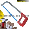 ADJUSTABLE HACKSAW FRAME WITH OVAL TUBE AND PLASTIC HANDLE