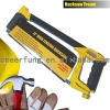 ALL ALUMINUM PRESSURE CASTING HACKSAW FRAME WITH RUBBER-COVERED HANDLE AND SQUARE TUBE