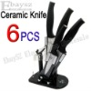 Best Christmas gift 6 Pcs KITCHENDAO Ceramic Knife With Knife Block &DZ-111