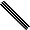 Black carbon steel hacksaw blade