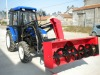 CE tractor loader with snowblower