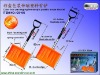 Color box packaging telescopic plastic snow shovel G810S