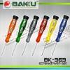 Colour Soft plastic handle Screwdriver BK 363
