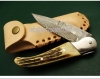 Damascus Knife With Quality Leather Sheath Cover