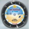 Deep teeth turbo small diamond blade for fast cutting marble----STBW