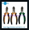 Diagonal pliers with 2-tone handle