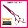 Domestic 440c high quality stainless steel hair scissors (purple&blue,6inch)