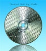 Electroplated diamond cutting blades with flange