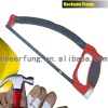 """FISH"" TYPE ALL ALUMINUM PRESSURE CASTING HACKSAW FRAME WITH FIVER-COVERED TUBE AND ALUMINUM PLASTIC-COVERED HANDLE"