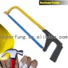 FLAT STEEL HACKSAW FRAME WITH ALUMINUM ALLOY HANDLE