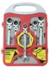 Flexible Head Ratchet Combination Wrench Set