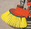 Fork lift mount Twin head sweeper ideal for orchard banks