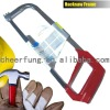 HACKSAW FRAME WITH ALUMINUM ALLOY HANDLE AND CP SQUARE TUBE