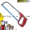 HACKSAW FRAME WITH ALUMINUM ALLOY HANDLE AND ROUND TUBE