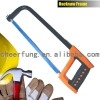 HACKSAW FRAME WITH DOUBLE COLOR PLASTIC HANDLE AND SQUARE TUBE