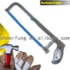 HACKSAW FRAME WITH FLAT STEEL TUBE AND IRON HANDLE