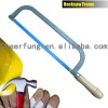 HACKSAW FRAME WITH WOODEN HANDLE AND FLAT STEEL